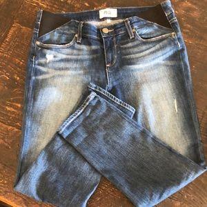 Paige Maternity Jimmy Jimmy Crop Jeans- Penelope
